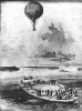 A reconnaissance balloon is launched from the coal barge