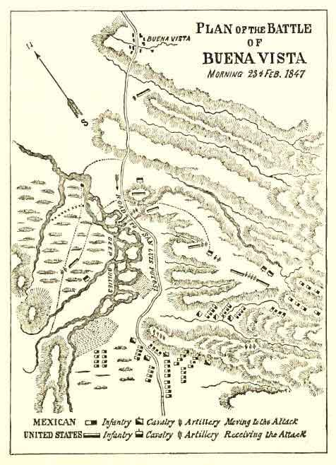 Plan of the Battle of Buena Vista