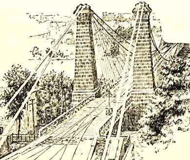 Old Stone Towers of the Niagara Suspension Bridge