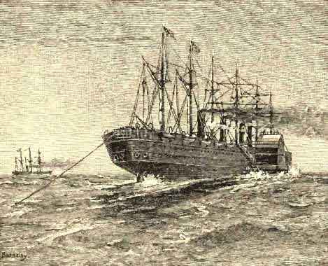 The Great Eastern Laying the Atlantic Cable