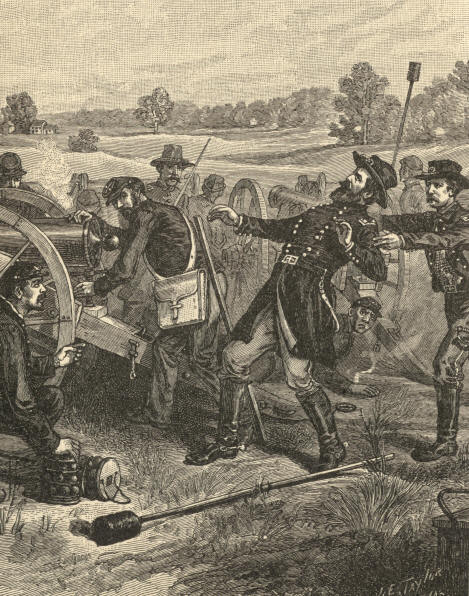 Death of General Sedgwick at Spottsylvania. May 9, 1864