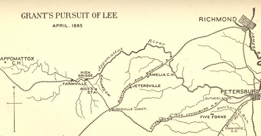 Grants Pursuit of Lee; April, 1865