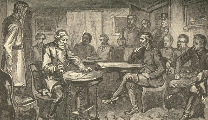 General Lee Signing the Terms of Surrender at Appomattox Court-House