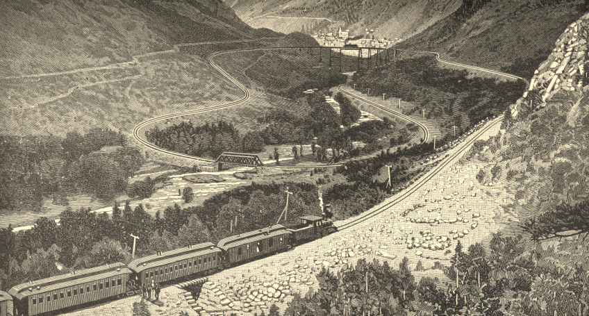 The Big Loop on the Georgetown Branch of the Union Pacific, Colorado