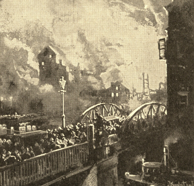 A Scene during the Chicago Fire