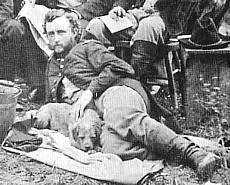 Custer with a dog